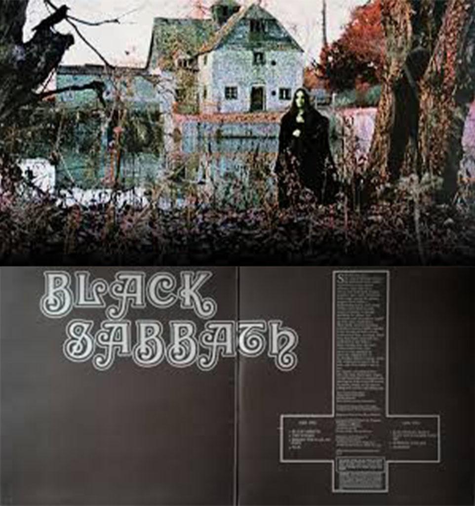 Black Sabbath's 1st album, outside & inside cover
